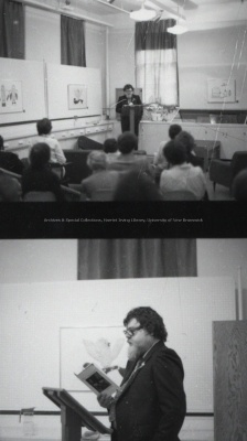 Alden Nowlan giving an Encaenia week in May 1979